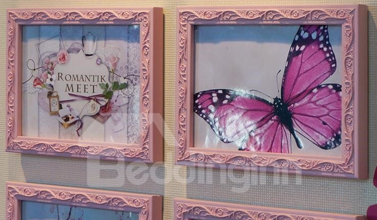 Fantastic 6-Piece Wall Photo Frame Set with Stickers