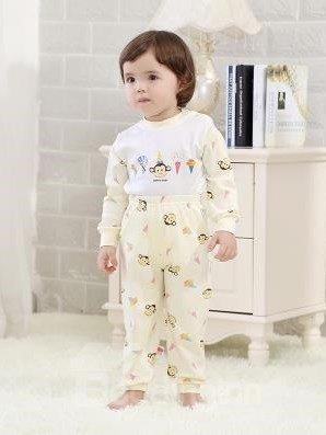 Long Sleeve Purified Cotton Suit Kids Pajamas