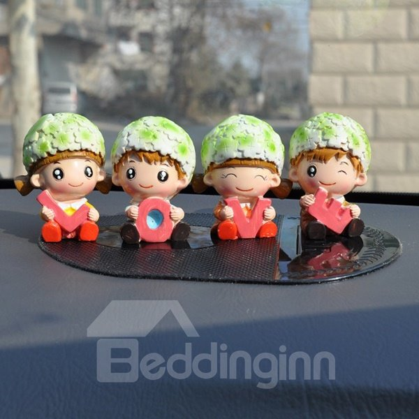 Big Head Babies Creative Car Decor