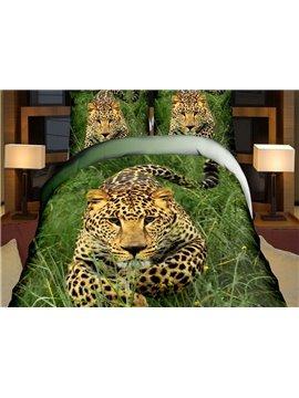 Smart Leopard Print 4-Piece Polyester Duvet Cover Sets