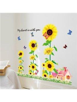 Amazing Pretty Layers of Sunflowers Wall Stickers