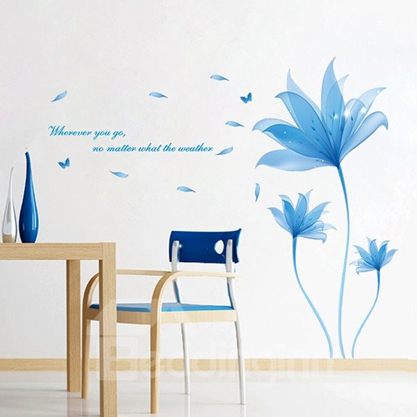 Charming Blue Dream Decorative Wall Stickers