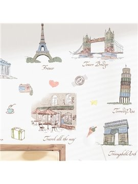 Fantastic World Famous Buildings Wall Stickers