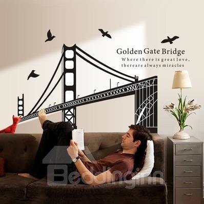 New Classic Wonderful Golden Gate Bridge Wall Stickers