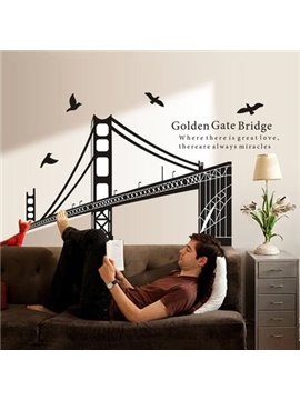 New Classic Wonderful Golden Gate Bridge Wall Stickers