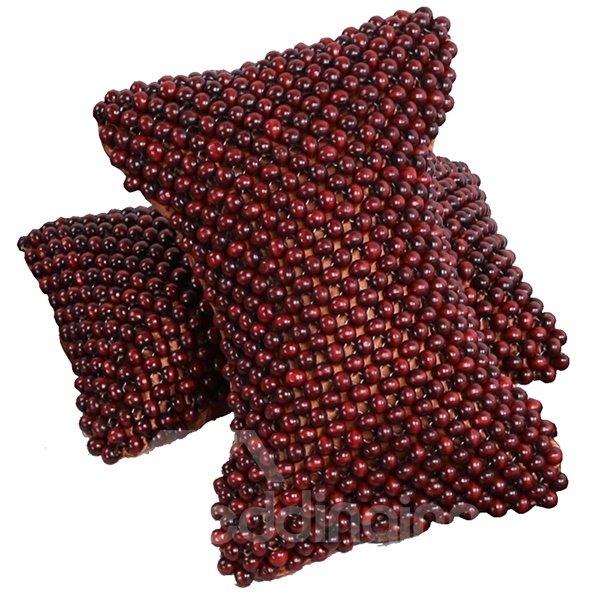 Neck Protect And Massage Camphordwood Beads Single Car Pillow