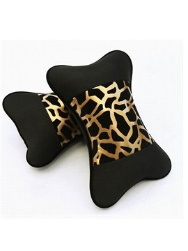 Environmental Highly Elastic Leopard Printing One Pair Car Pillows