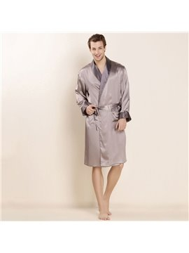 Mulberry Silk Delicate Materials Luxury Men's Bathrobe