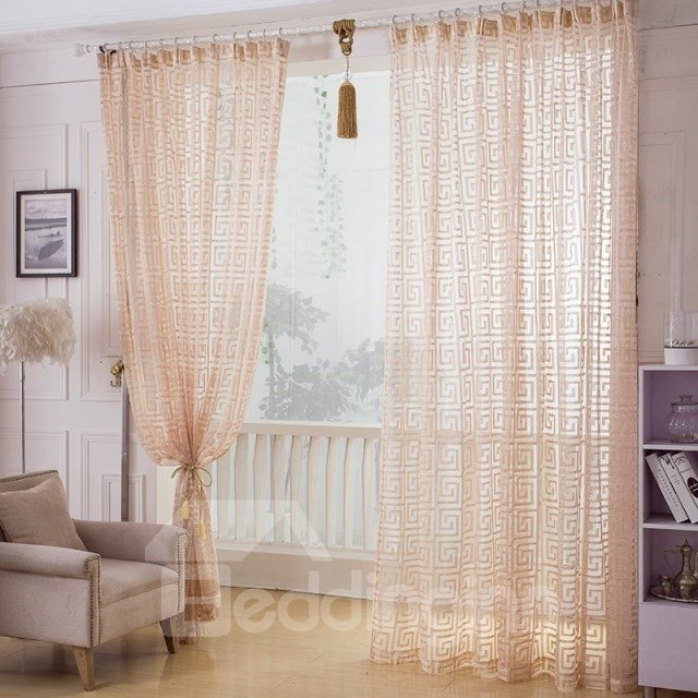 High Class Elegant Decorative Custom Sheer Curtain