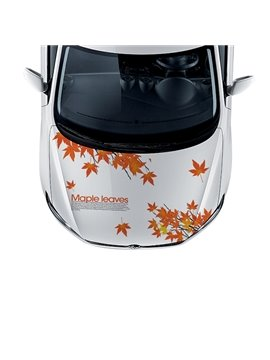 Beautiful Maple Leaves PVC Car Sticker