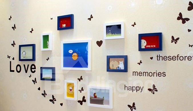 Top Classic Wall Photo Frame Set with Wall Stickers