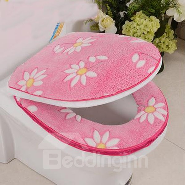 Thicken Warmth Sunflower 2-Piece Set Toilet Seat Covers