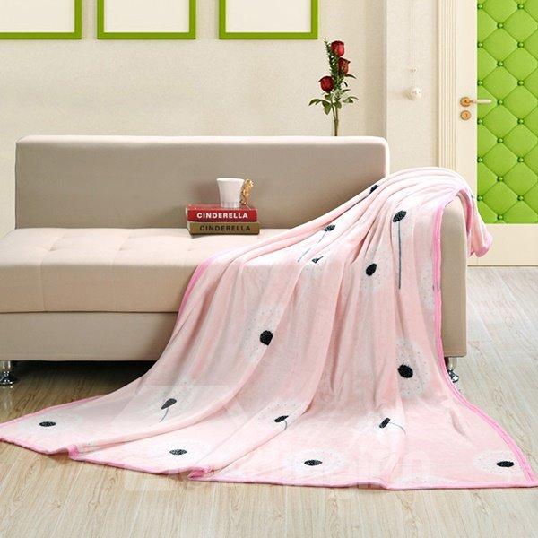 Dandelion Printing Edge Covered Blanket