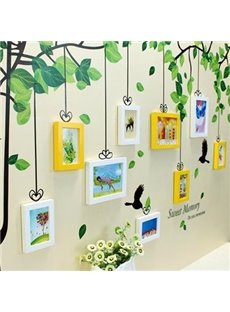 Sweet Memory Tree Wall Photo Frame Set with Wall Stickers
