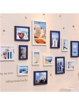 Mediterranean Sea Picture Wall Photo Frame Set with Wall Stickers