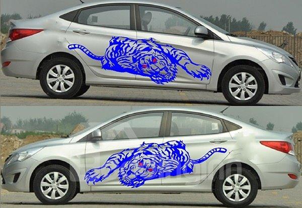 Wonderful Strong Tiger Both Side Car Body Sticker