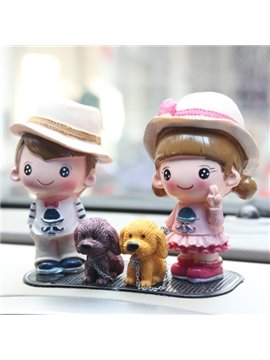 The Happy Family Resin Car Decor