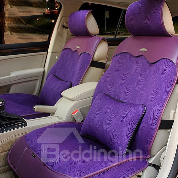 Breathable Cool and Elastic PU and Fabric Car Seat Covers