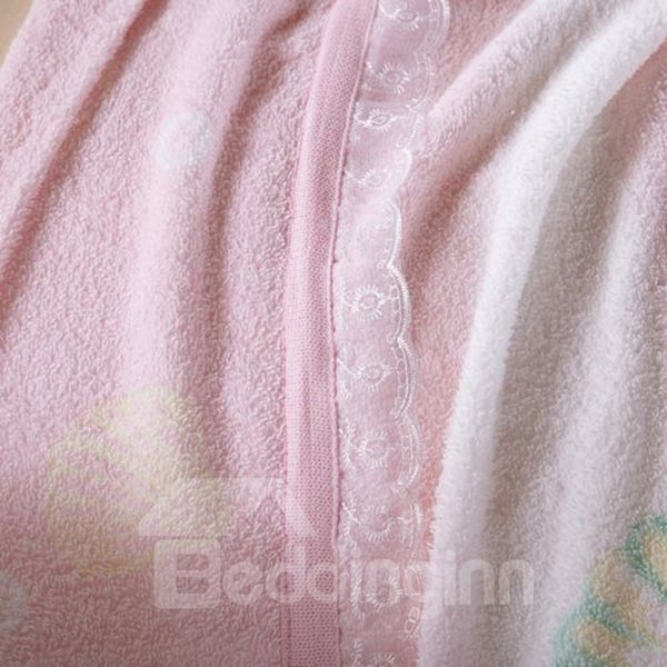 Colorful Shells Printing Jacquard Towel Blanket