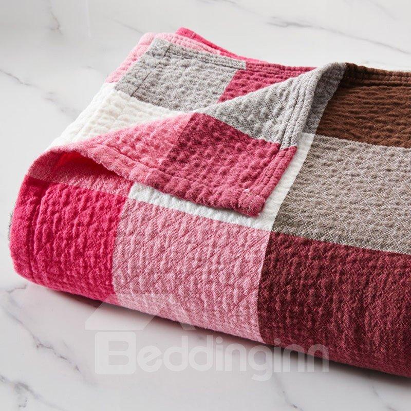 Cells Patchwork Soft Cotton Blanket