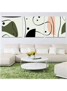 Top Classic Simple Pattern 3-Piece Crystal Film Art Wall Print