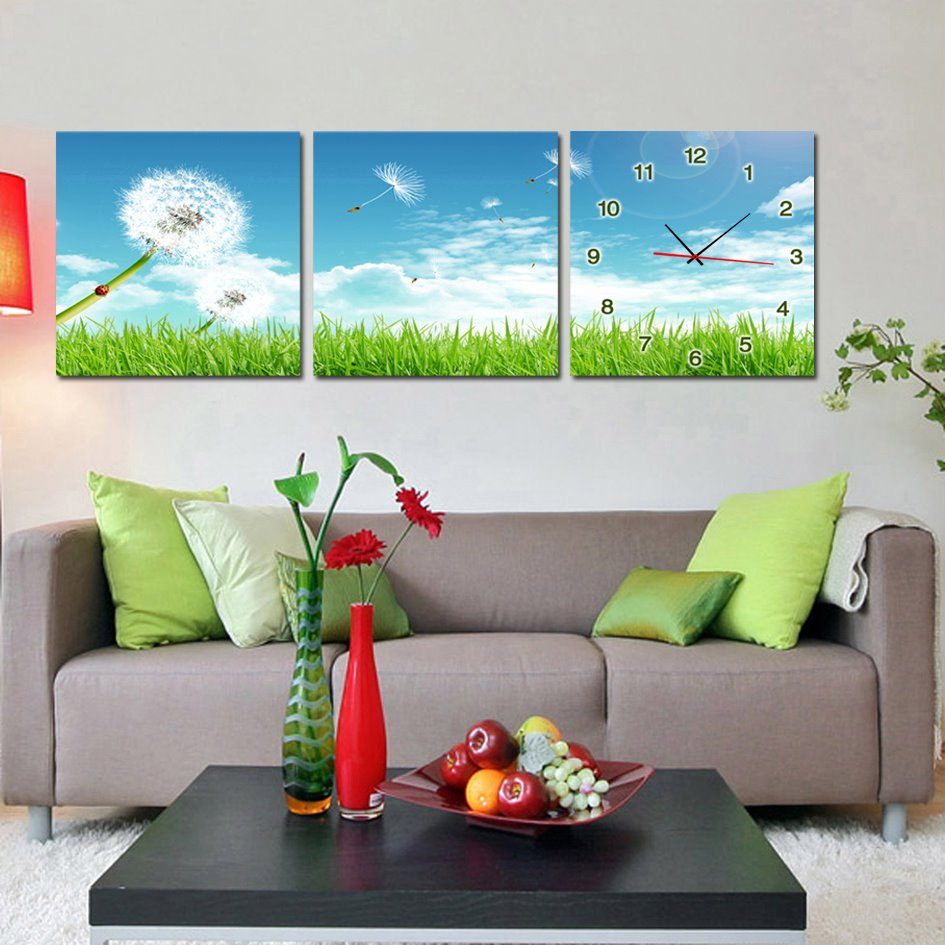 Beautiful Dandelion 3-Piece Crystal Film Art Wall Print