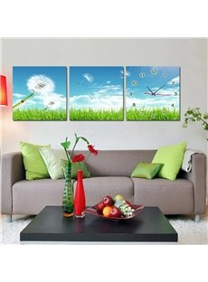 Beautiful Dandelion 3-Piece Crystal Film Art Wall Print