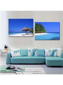 Pretty Summer Beach 2-Piece Crystal Film Art Wall Print