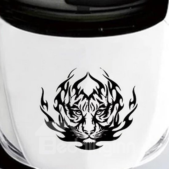 Creative Fire Tiger Head Car Sticker