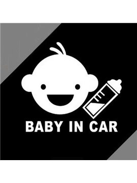 Baby In Car Warning Safety Identification Car Sticker
