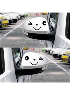 Bright Smiling Face Car Rear 1-Pair Mirrors Sticker