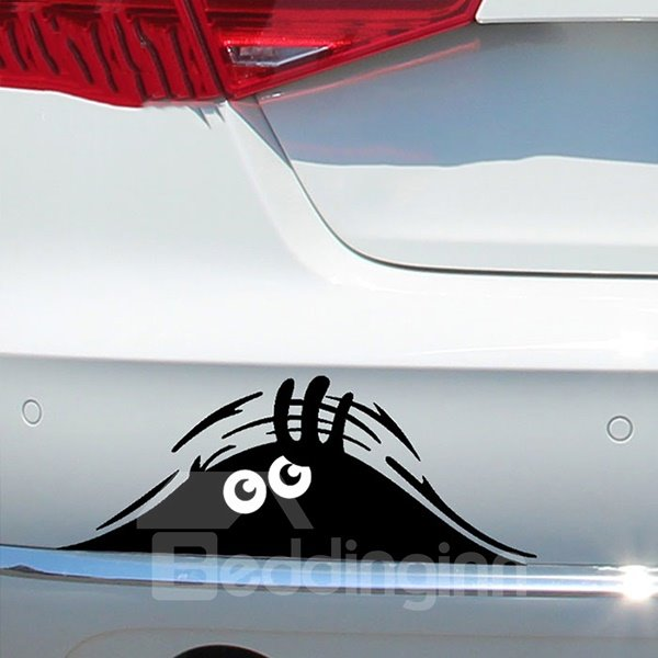 Creative Funny Peeper Lifelike Car Pump Sticker