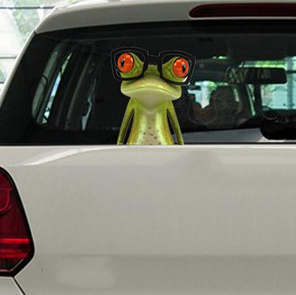 Staring Glasses Frog Model Funny Creative Car Sticker