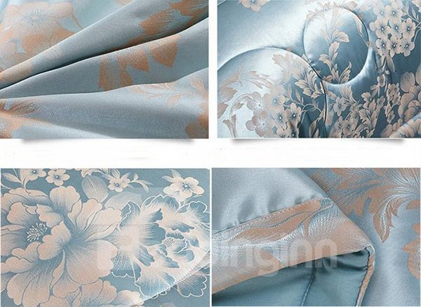 The Soft Jacquard Material Tribute Silk Quilt