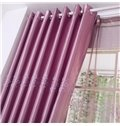 Purple Luxury Floral Embroidery Grommet Top  Curtain