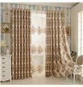 Elegant Beige High Shading Degree Polyester Grommet Top Curtain