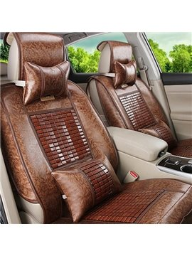 Scattered Colors Modern Design With Bamboo Chips For Cooling Universal Car Seat Covers