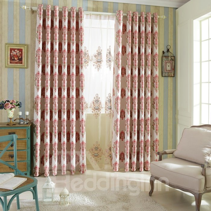Stylish Design Modern Decoration High Shading Degree Grommet Top Curtain