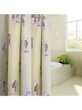 European Style Loveliness Waterproof Shower Curtains