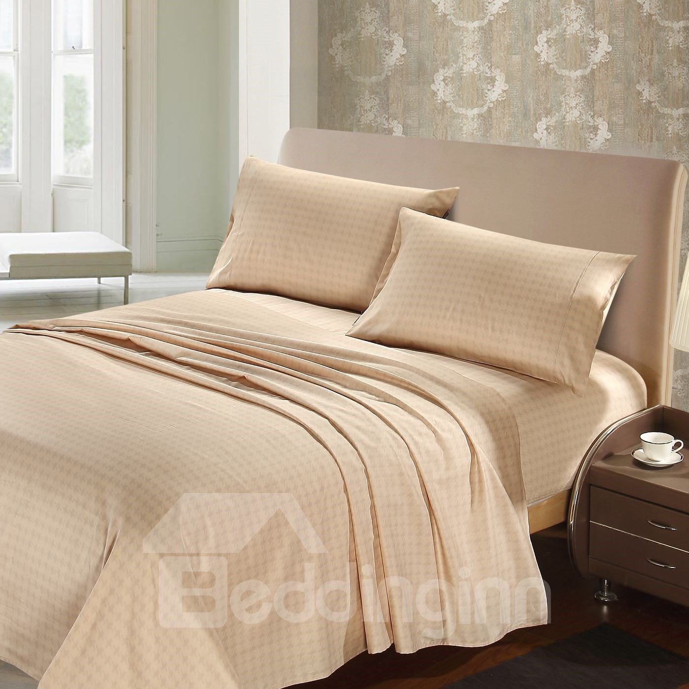 Soft and Skin Care 4-Piece 100% Cotton Sheet Set