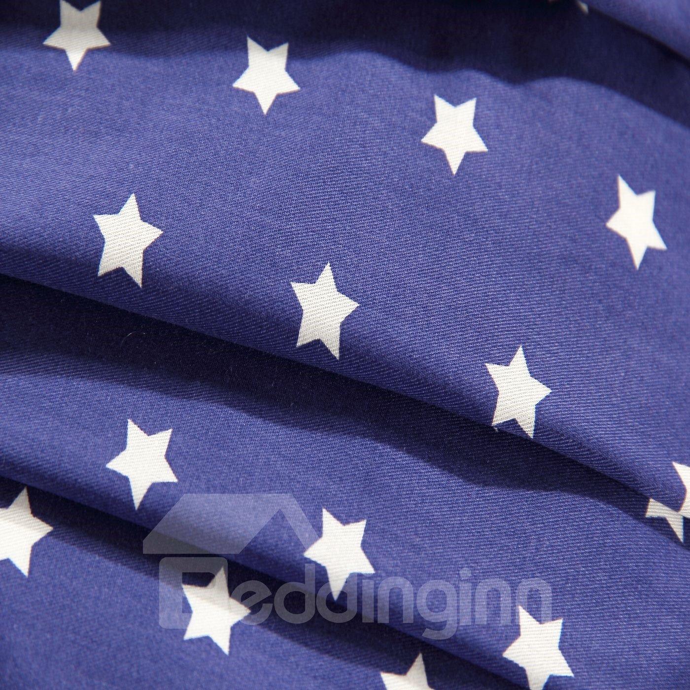 Little White Dots Printing 4-Piece Cotton Sheet Set