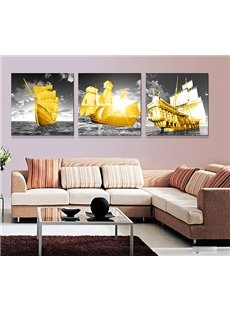 Perfect Plain Sailing 3-Piece Crystal Film Art Wall Print
