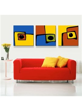 Modern Touch Abstract Art 3-Piece Crystal Film Art Wall Print