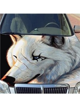 The Fierce Wolf Printing Car Engine Sticker