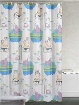 Top Grade Europe Type Personality Waterproof Shower Curtains