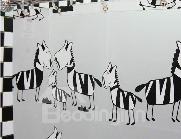 Little Zebra PEVA  Environmental Protection Waterproof Shower Curtains