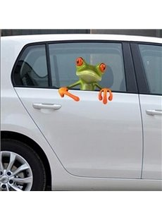 Lifelike 3D Effect Frog Pattern Car Sticker