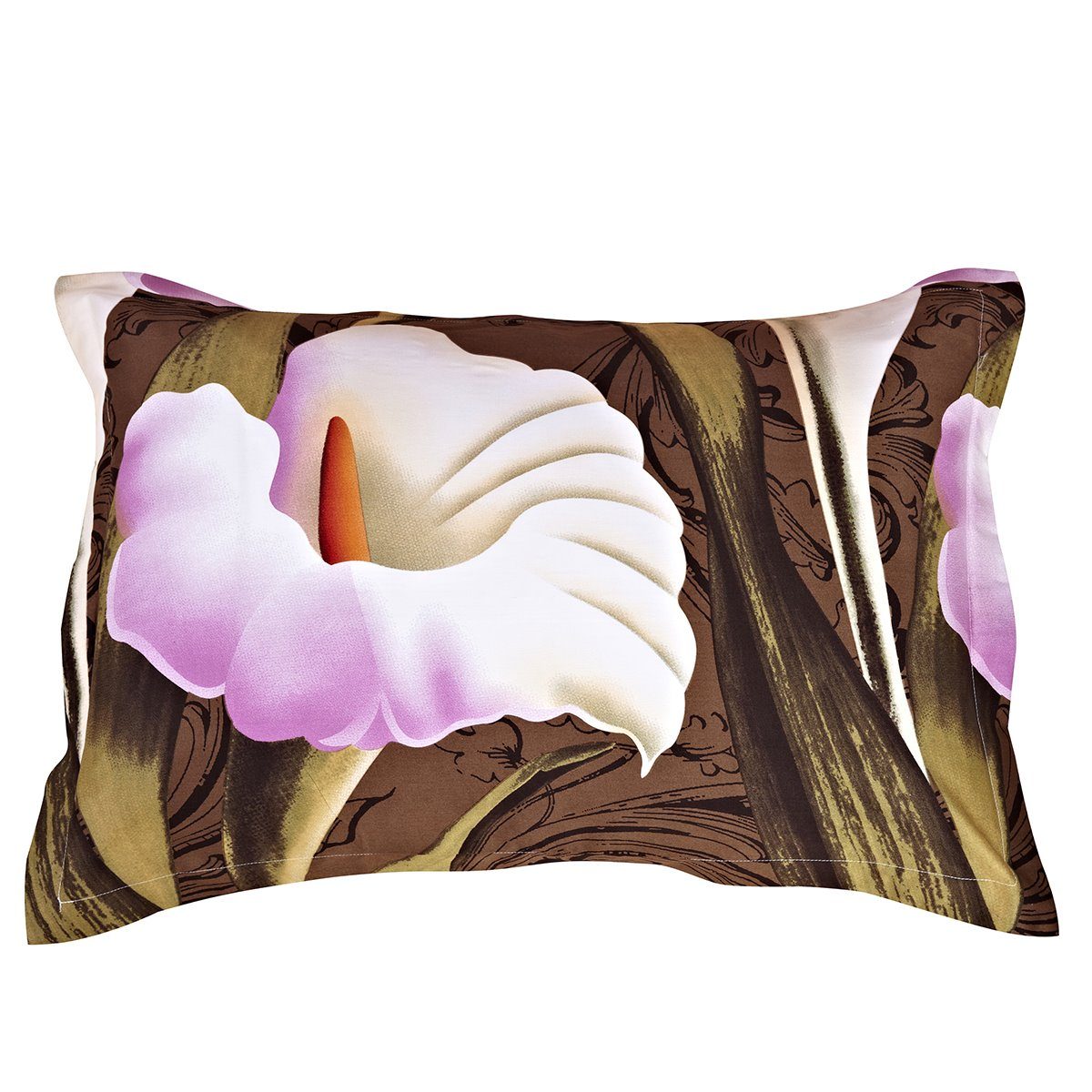 The Calla Lily Printing One Pair Cotton Pillowcases