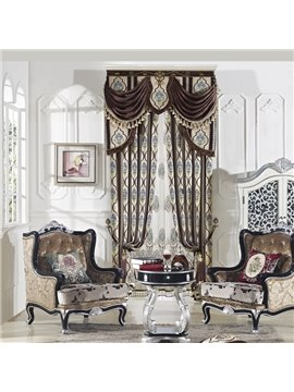Elegant High Precision Chenille High Shading Degree Polyester Curtain