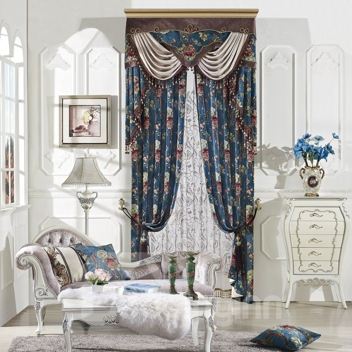 High Precision High Shading Degree Fashion Chenille Polyester Curtain